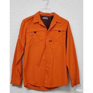 Columbia Orange long Sleeve hiking shirt